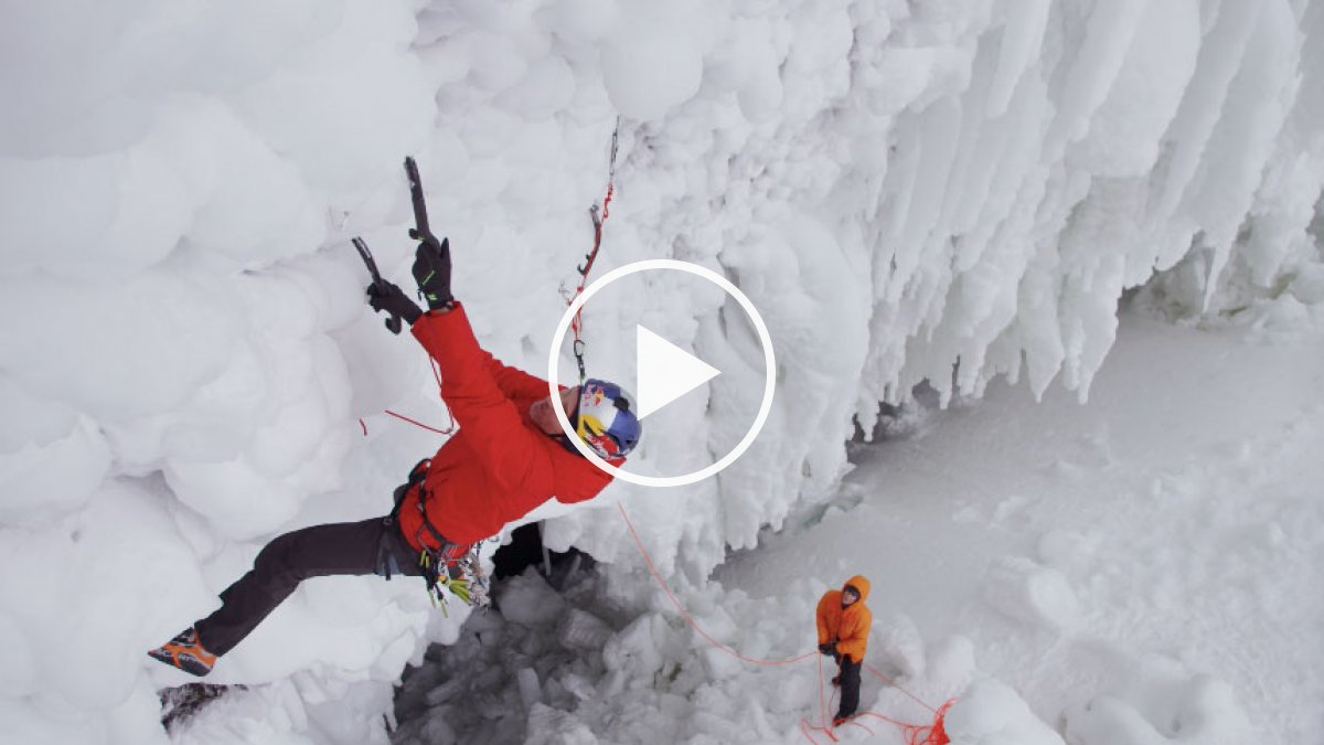 Will Gadd Ice-Climbs Helmcken Falls